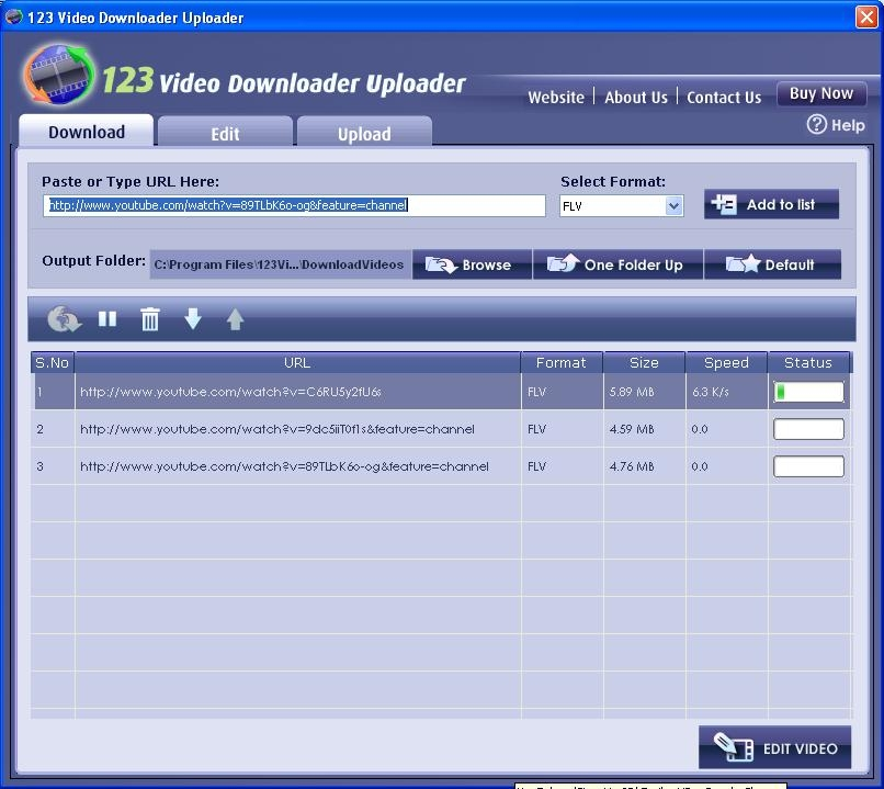 123 Video Downloader Uploader screenshot